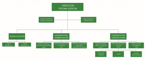 Organigrama Oficina Judicial Circunscripcional